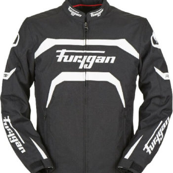 Furygan Arrow Vented Black White Riding Jacket