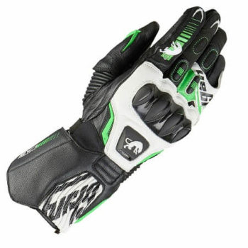 Furygan FIT R2 Black White Fluorescent Green Riding Gloves