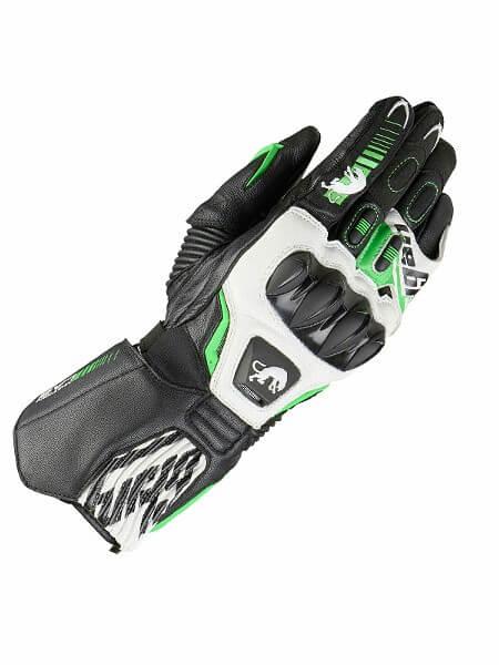 Furygan FIT R2 Black White Fluorescent Green Riding Gloves