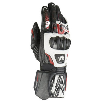 Furygan FIT R2 Black White Red Riding Gloves