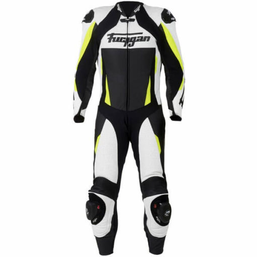 Furygan Full Apex Perforated Black White Fluorescent Yellow Suit