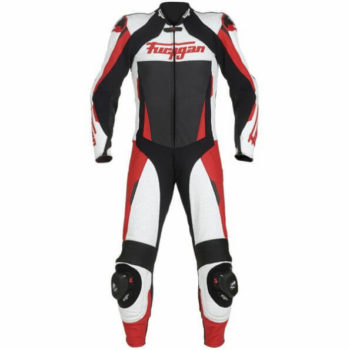 Furygan Full Apex Perforated Black White Red Suit