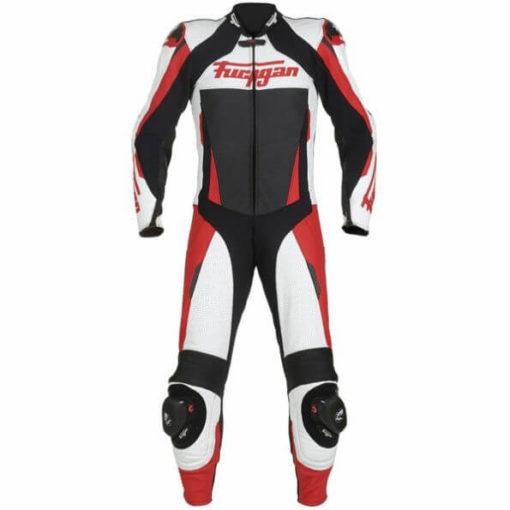 Furygan Full Apex Perforated Black White Red Suit