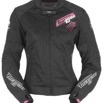 Furygan Pantha Lady Vented Black Pink Riding Jacket