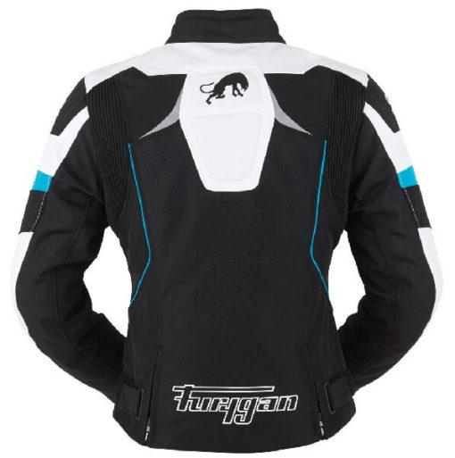 Furygan Xenia Black White Blue Riding Jacket 1