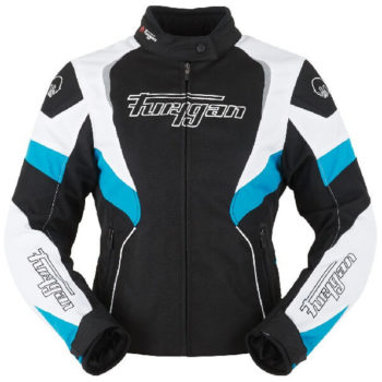 Furygan Xenia Black White Blue Riding Jacket