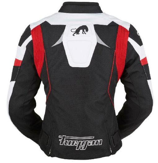 Furygan Xenia Black White Red Riding Jacket 1