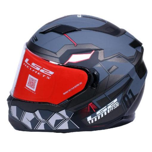 LS2 FF320 Angel Matt Grey Full Face Helmet