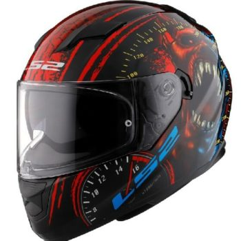 LS2 FF320 Speed Demon Gloss Red Black Full Face Helmet