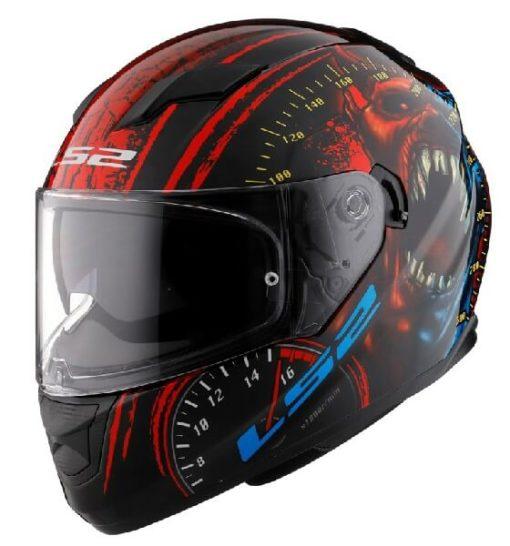 LS2 FF320 Speed Demon Gloss Red Black Full Face Helmet