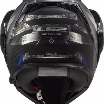 LS2 FF324 Metro Evo Buzz Matt Black Titanium Blue Flip Up Helmet 1