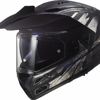 LS2 FF324 Metro Evo Buzz Matt Black Titanium Blue Flip Up Helmet