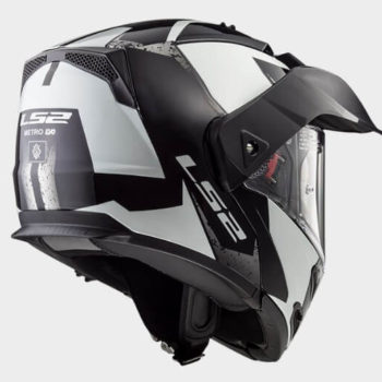 LS2 FF324 Metro Evo Sub Glow Matt White Black Flip Up Helmet 1