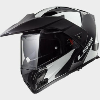 LS2 FF324 Metro Evo Sub Glow Matt White Black Flip Up Helmet