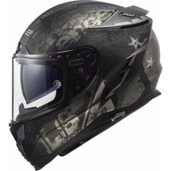 LS2 FF327 Challenger Flex Matt Black Full Face Helmet 1