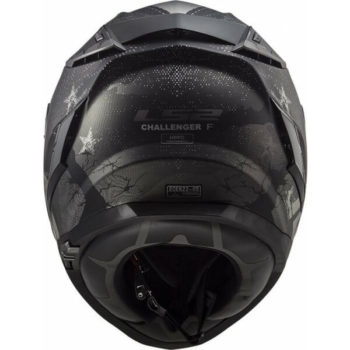 LS2 FF327 Challenger Flex Matt Black Full Face Helmet 2