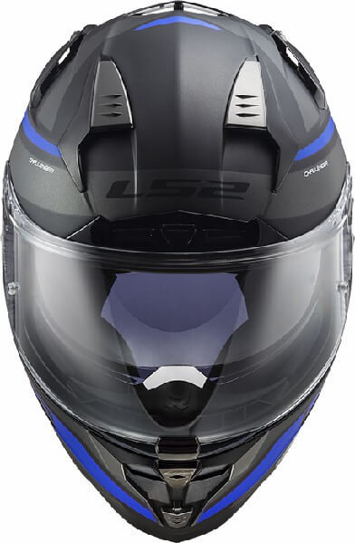 LS2 FF327 Challenger Fusion Matt Black Titanium Full Face Helmet 2