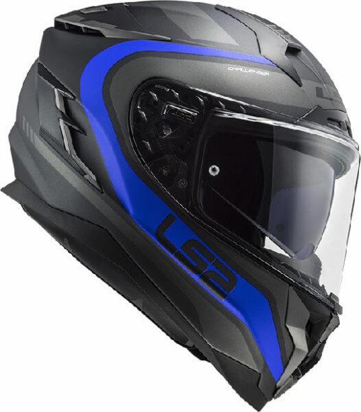 LS2 FF327 Challenger Fusion Matt Black Titanium Full Face Helmet 3