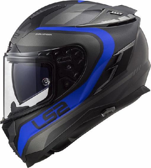 LS2 FF327 Challenger Fusion Matt Black Titanium Full Face Helmet