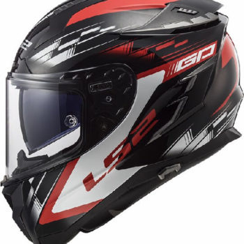LS2 FF327 Challenger GP Matt Black Red Full Face Helmet