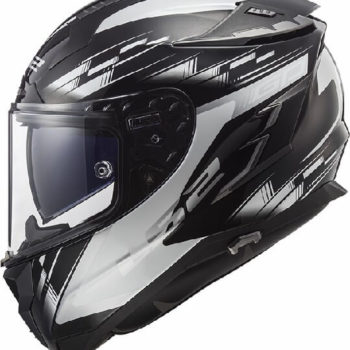 LS2 FF327 Challenger GP Matt Black White Full Face Helmet