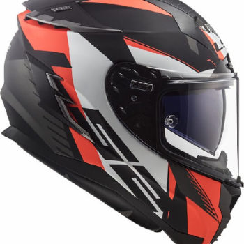 LS2 FF327 Challenger Squadron Matt Black Fluorescent Orange Full Face Helmet 1