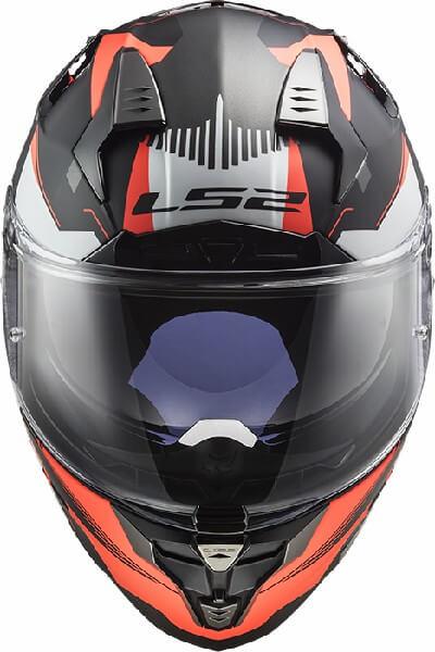 LS2 FF327 Challenger Squadron Matt Black Fluorescent Orange Full Face Helmet 2