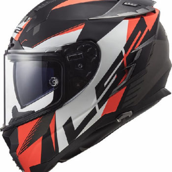LS2 FF327 Challenger Squadron Matt Black Fluorescent Orange Full Face Helmet