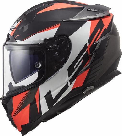 LS2 FF327 Challenger Squadron Matt Black Fluorescent Orange Full Face Helmet