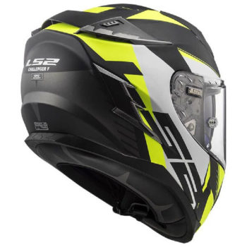 LS2 FF327 Challenger Squadron Matt Black Yellow Full Face Helmet 1