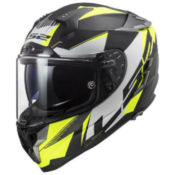 LS2 FF327 Challenger Squadron Matt Black Yellow Full Face Helmet