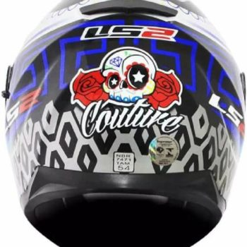 LS2 FF328 Stream Evo Couture Matt Black Blue Full Face Helmet 1