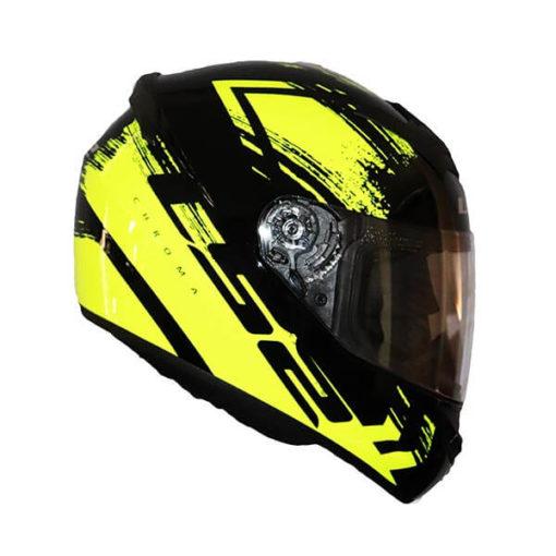 LS2 FF352 Chroma Gloss Black Fluroescent Yellow Full Face Helmet