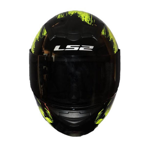 LS2 FF352 Chroma Gloss Black Fluroescent Yellow Full Face Helmet1