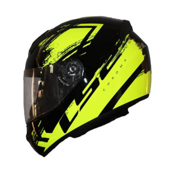 LS2 FF352 Chroma Gloss Black Fluroescent Yellow Full Face Helmet2