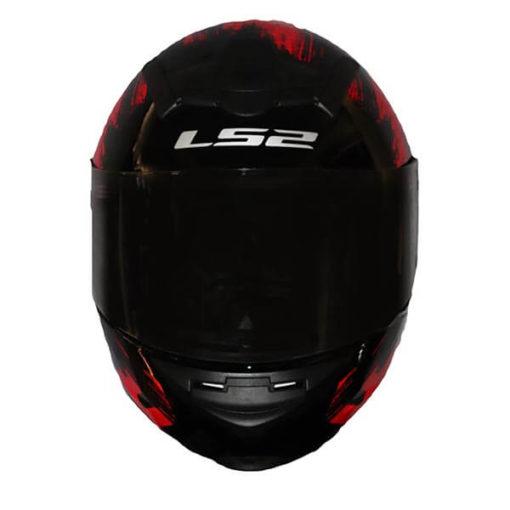 LS2 FF352 Chroma Gloss Black Red Full Face Helmet1