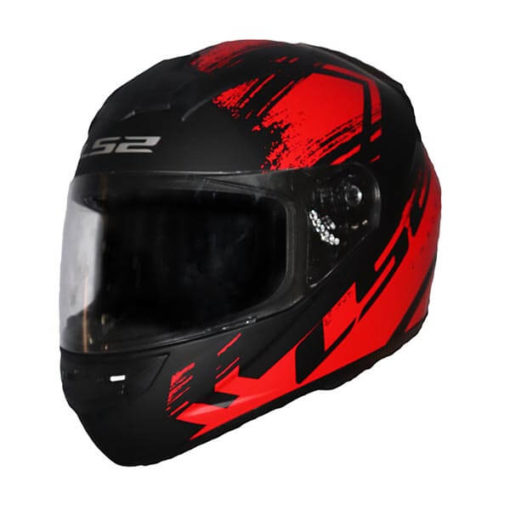 LS2 FF352 Chroma Matt Black Red Full Face Helmet2