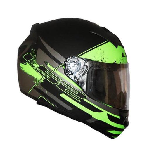 LS2 FF352 Combat Matt Black Grey Green Full Face Helmet 2019 3