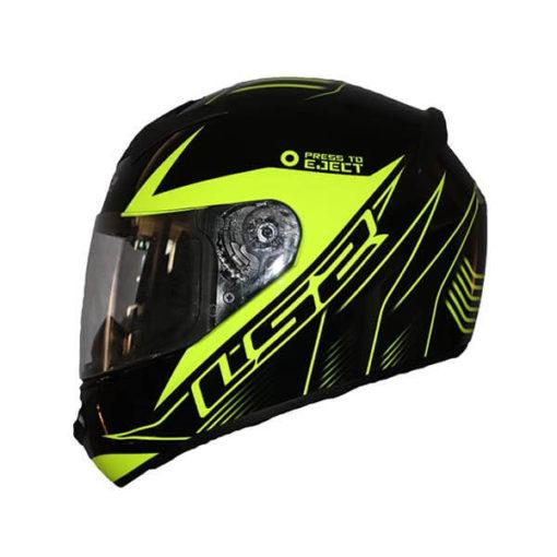 LS2 FF352 Lighter Gloss Black Fluorescent Yellow Full Face Helmet