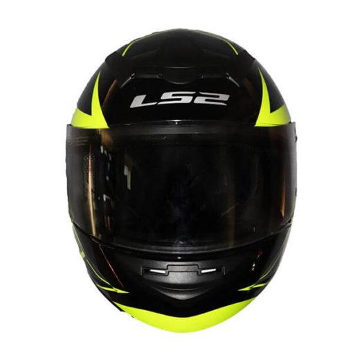 LS2 FF352 Lighter Gloss Black Fluorescent Yellow Full Face Helmet1