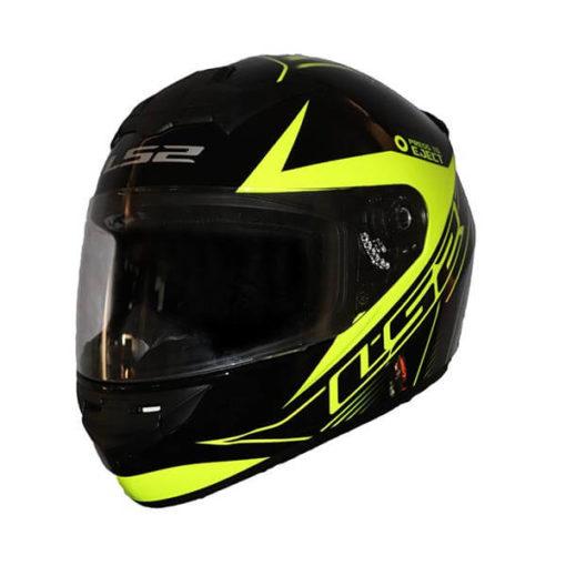 LS2 FF352 Lighter Gloss Black Fluorescent Yellow Full Face Helmet2