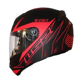 LS2 FF352 Lighter Matt Black Red Full Face Helmet 2019