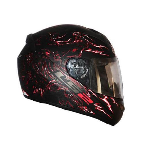 LS2 FF352 Magic Matt Black Grey Red Full Face Helmet 2019
