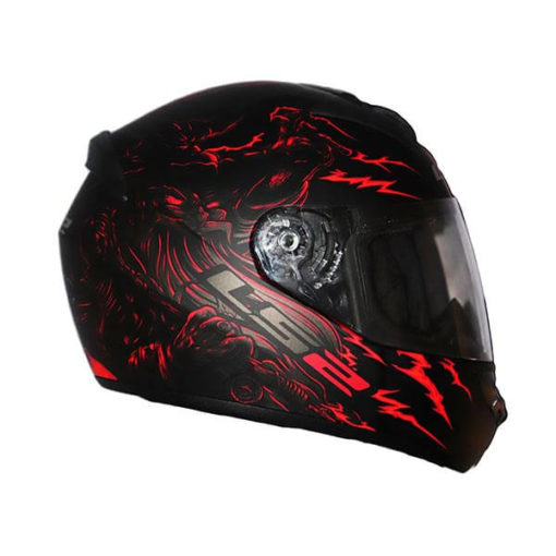 LS2 FF352 Magic Matt Blue Red Full Face Helmet 2