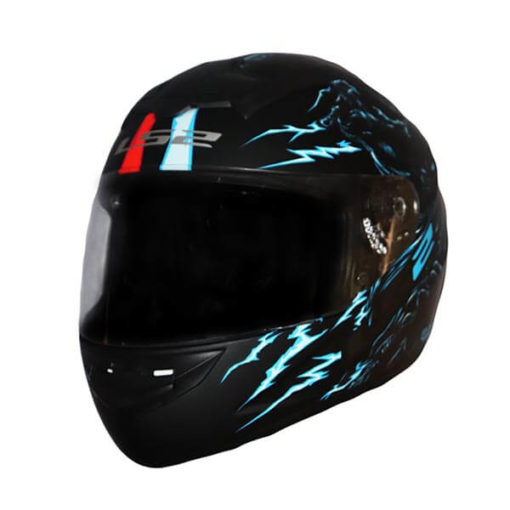 LS2 FF352 Magic Matt Blue Red Full Face Helmet 3