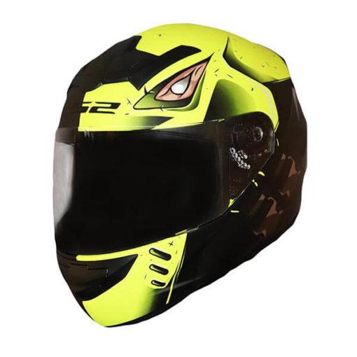 LS2 FF352 Stroke Matt Black Fluorescent Yellow Full Face Helmet 3