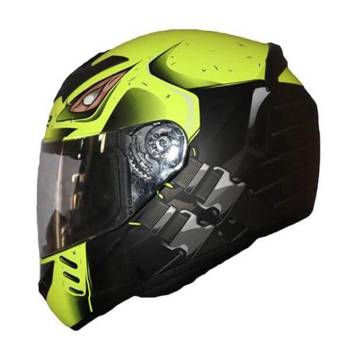 LS2 FF352 Stroke Matt Black Fluorescent Yellow Full Face Helmet