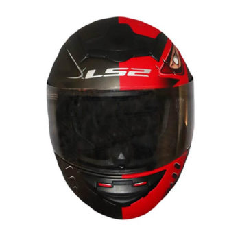 LS2 FF352 Stroke Matt Black Red Full Face Helmet 1