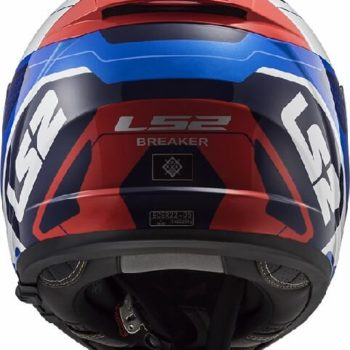 LS2 FF390 Breaker Android Gloss Blue Red Full Face Helmet 1