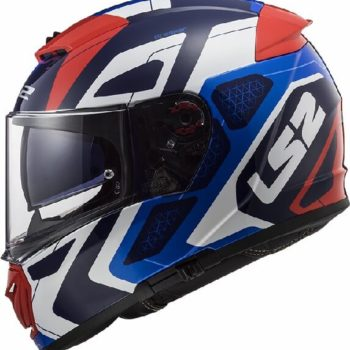 LS2 FF390 Breaker Android Gloss Blue Red Full Face Helmet